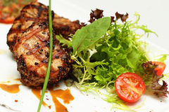 鲜美食品,餐馆肉 免版税库存照片