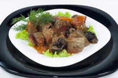 鲜美食物的肉 免版税库存照片
