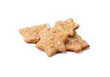 鲜美饼干用桂香和姜 免版税库存照片