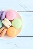 鲜美macarons 免版税图库摄影