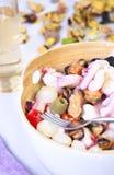 鲜鱼晚餐 免版税库存图片