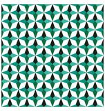 鲜绿色几何无缝的样式 另外的背景企业格式 免版税库存图片