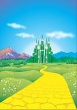 鲜绿色城市 免版税库存照片