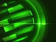 鲜绿色抽象地球 数字式背景 库存图片