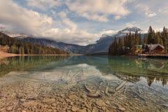 鲜绿色湖反射 免版税库存图片