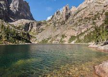 鲜绿色湖, Tyndall峡谷,洛矶山国家公园, CO 免版税图库摄影
