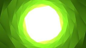 鲜绿色的几何圈子孔背景 免版税库存图片