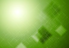 鲜绿色的技术正方形背景 免版税库存图片