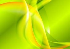 鲜绿色的黄色波浪设计 库存例证