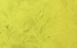 鲜绿色的troweled墙壁 库存图片