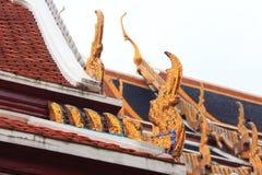 鲜绿色菩萨寺庙的细节 免版税库存图片
