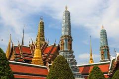鲜绿色菩萨寺庙, Wat Pra Kaew 免版税库存图片
