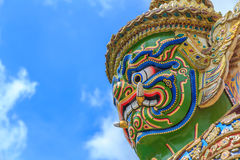鲜绿色菩萨或曼谷玉佛寺,盛大宫殿,曼谷,泰国的寺庙 库存图片