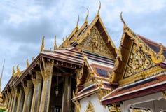 鲜绿色菩萨的寺庙在曼谷,泰国 库存图片