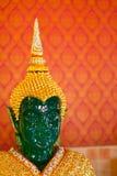 鲜绿色菩萨的头 库存照片