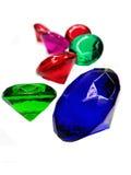 鲜绿色青玉红宝石黄玉宝石水晶 免版税图库摄影