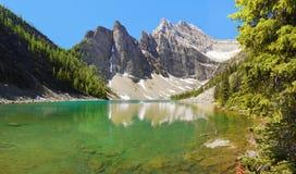 鲜绿色高山湖 库存照片