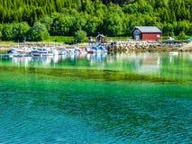 鲜绿色水在挪威 免版税图库摄影
