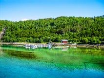 鲜绿色水在挪威 免版税库存照片