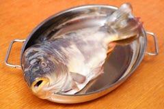 鲤鱼烹调 图库摄影