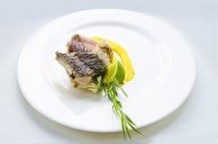 鲤鱼用蛋黄奶油酸辣酱调味汁 库存照片