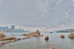 鲤鱼门, kwun钳子香港 免版税库存图片