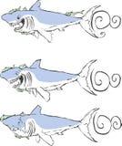 鲨鱼三 免版税库存照片