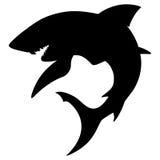 鲨鱼剪影 免版税库存照片