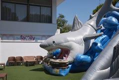 鲨鱼可膨胀的玩具 库存照片