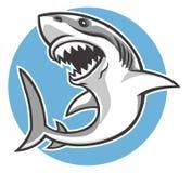 鲨鱼吉祥人 向量例证