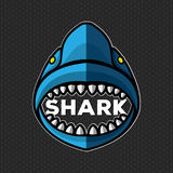 鲨鱼商标传染媒介传染媒介例证 图库摄影