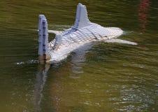 鲨鱼在乐高中 库存图片