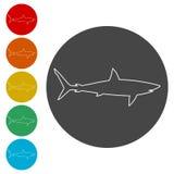 鲨鱼标志,鲨鱼象 免版税图库摄影