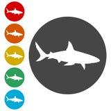 鲨鱼标志,鲨鱼象 库存照片