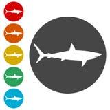 鲨鱼标志,鲨鱼象 图库摄影