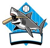 鲨鱼棒球吉祥人 库存例证