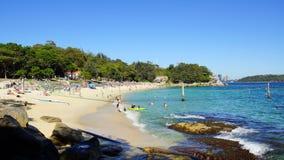 鲨鱼海滩,尼尔森公园,横谷,悉尼,澳大利亚 库存图片