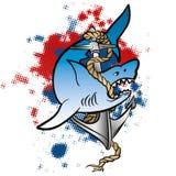 鲨鱼船锚 免版税图库摄影