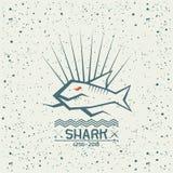 鲨鱼象征 免版税库存照片