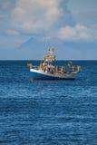 鲭鱼渔船 库存图片