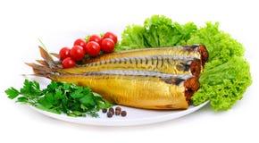 鲭鱼熏制的白色 免版税图库摄影