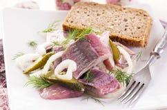 鲱鱼沙拉 免版税库存图片