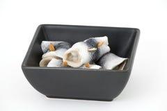 鲱鱼用了卤汁泡 免版税库存照片