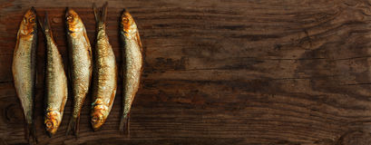 鲱鱼西鲱抽了木橡木 免版税库存照片