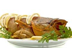鲶鱼鲜美正餐的岸 图库摄影