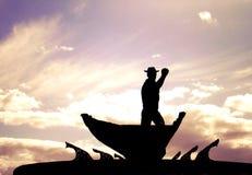 鲸鱼凶手,亚速尔群岛 免版税库存图片