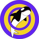 鲸鱼挥动商标 免版税库存图片