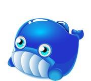鲸鱼-在水动物字符下的逗人喜爱的海洋生活动画片收藏 皇族释放例证