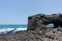 鲸鱼洞,澎湖 库存图片