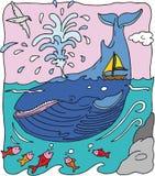 鲸鱼 皇族释放例证